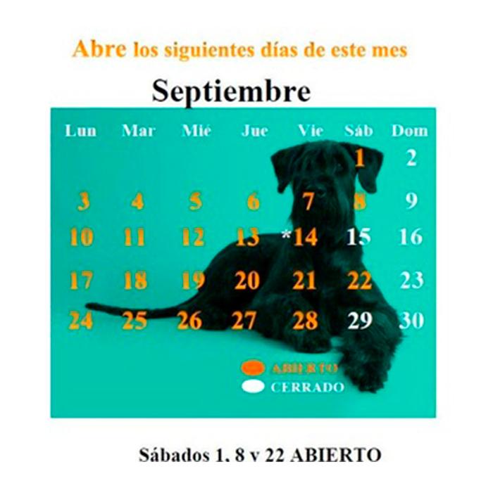 CALENDARIO SEPTIEMBRE 18
