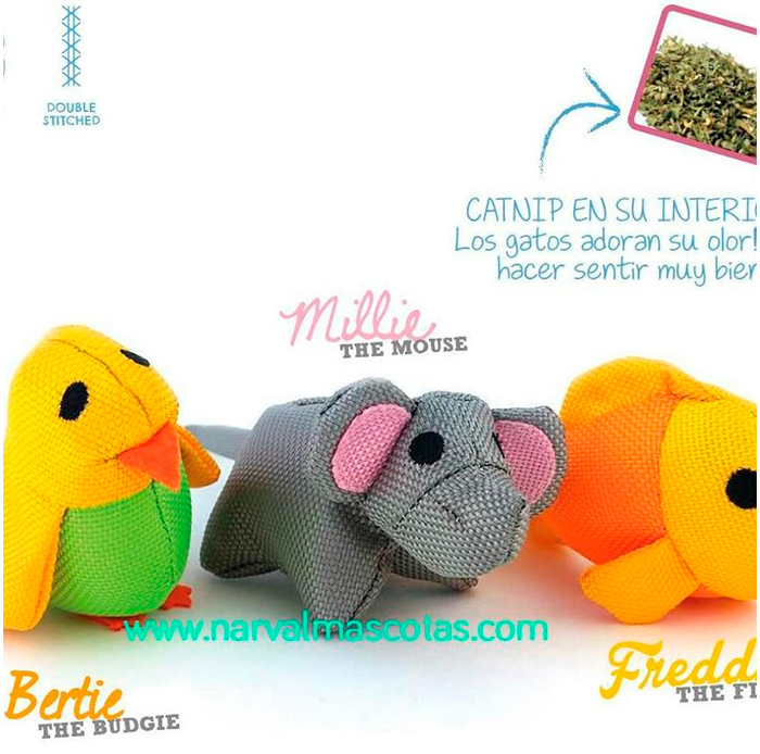 Muñecos Beco Things para gatos